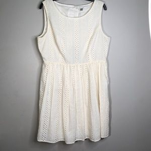Lauren Conrad Lacey Cream Dress  | Gorgeous Detail